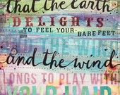 The Earth Delights paper print - inspirational word are poster