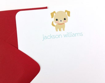 Puppy Thank You Notes, Puppy Stationery - SET OF 12