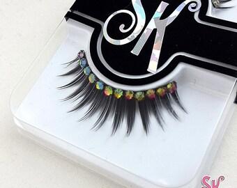 Semi-Custom Rhinestone Fringe False Eyelashes  - SugarKitty Couture
