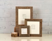 Rustic Natural Reclaimed Cedar Wood Picture Frame - Choose Your small Size: 3x3, 2x6, 3.5x5, 4x4, 4x5, 4x6, 5x5, 5x7, 6x6, 6x8, 7x7, 4x10