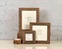 Rustic Natural Reclaimed Cedar Wood Picture Frame - Choose Your small Size: 3x3, 2x6, 3.5x5, 4x4, 4x5, 4x6, 5x5, 5x7, 6x6, 6x8, 7x7, 4x10
