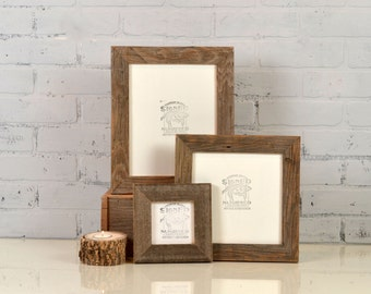 Rustic Natural Reclaimed Cedar Wood Picture Frame - Choose Your medium Size: 8x8, 7x9, 8x10, 9x9, 8.5x11, 9x11, 8x12 or 8.3x11.7 inches