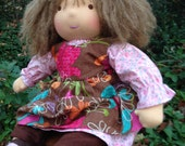 Waldorf Inspired Sitting Girl/Baby Doll Style Waldorf Doll 15 inch Zara