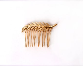 Small Anna Comb, Gold Leaf Comb,  Romantic Hair Jewelry, Bridal Hair Accessory, Bridesmaid Accessories, Gift for Bride, Rustic Woodland
