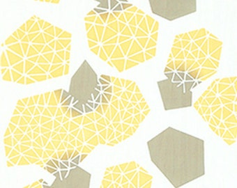 Japanese Tenugui Towel Cotton Fabric, Twinkle Prism Light, Simple Abstract Art Wall Hanging, Home Decor, Yellow & White Scarf, Headband,n106