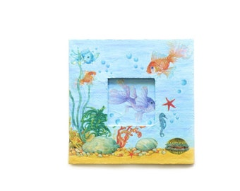 Decoupage Aquarium Photo Frame for sea lovers