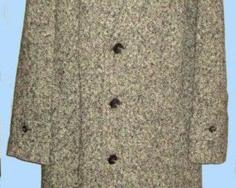 """Men's Vtg. English Tweed Coat / Classic / Sz 40"""""""