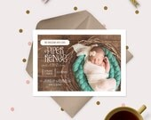 Baby Announcement Photo Cards - Whimsical