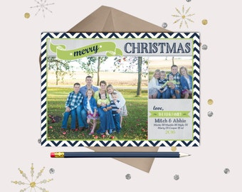 Blue & Green Christmas Photo Cards · 2 pictures ·  Modern, Fun Christmas Card
