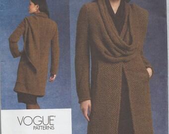 Vogue 1129 / Out Of Print Designer Sewing Pattern By Donna Karan / Coat Jacket / Sizes 6 8 10 12