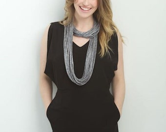 Infinity Scarf, Necklace , Loop, Circle Scarf, Gifts for Her, Birthday Presents, Just like Jewelry, Not a T-shirt Scarf