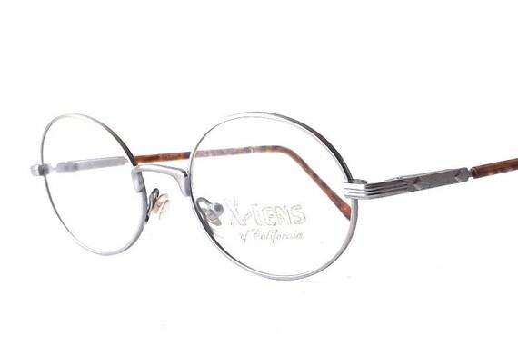 vintage 1990 u0026 39 s nos xlens oval metal wire eyeglasses matte