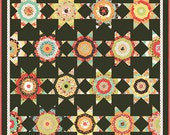 "Midnight Quilt Pattern with Template - Honey Bun Quilt Pattern - Fig Tree & Co. - Star Quilt Pattern - 1.5"" Inch Strip Pattern"
