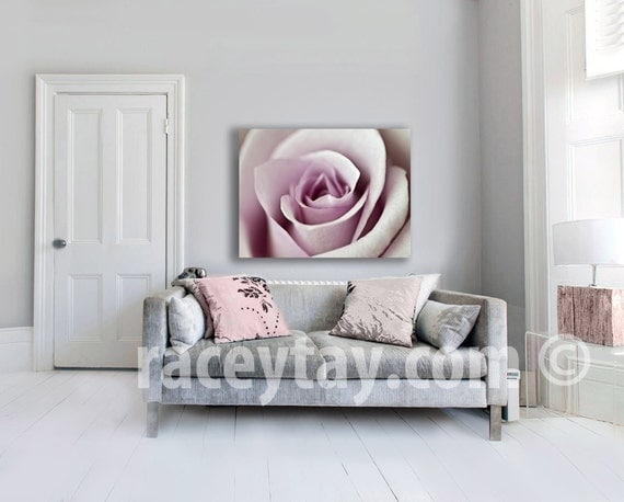 Pink Rose, Large Canvas Art, Pink, Girl Nursery Decor, Shabby Chic, Wall Art Canvas