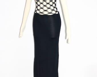 Vintage JEAN PAUL GAULTIER Slinky Convertible Net Dress