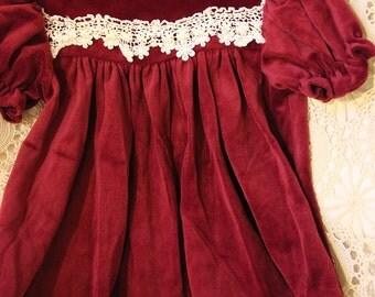 Size 18 months velvet-like dress