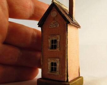 From *DJD* Tiny,tatty,,dollhouse for a dollhouse toy,furnished..