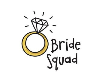 Bride Squad Bachelorette Party tattoos • Economy Pack Save • Wedding • Bridal Party • Bridesmaids • Wedding Party • Set of 10