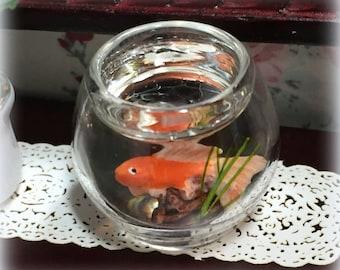 Adorable Miniature Goldfish Bowl Dollhouse 1:12 Scale Miniature