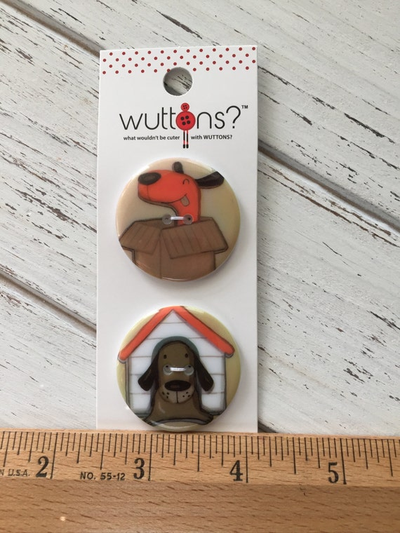 Dog Buttons Wuttons Collecion by Button Lovers Blumenthal Lansing Carded Set