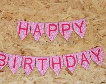 Happy Birthday Banner - Happy Birthday Sign - Party Banner - Birthday Photo Prop - Custom Banner