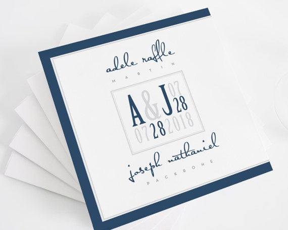 Modern Logo Wedding Programs - Deposit