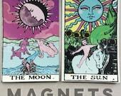 Tarot Sun and Moon Magnet set