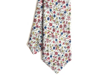 Pip 05 - White/Red Floral Men's Tie