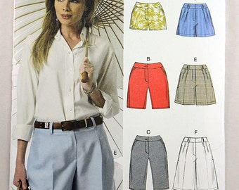 Vogue 9008, Misses' Shorts Sewing Pattern, Shorts in 3 Lengths, Easy Shorts Pattern, Sizes 6 to 14, New and Uncut