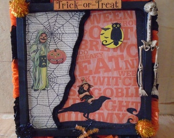 Halloween Trick or Treat Collage Wall Decor