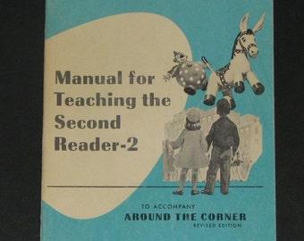1964 Teachers Manual for teaching Second Reader - Around the Corner - Ginn Basic Readers