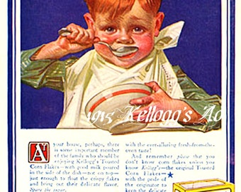 Kellogg's Ad 1915 Vintage Ad Reproduction Digital Art  Downloadable, Printable, Instant Download