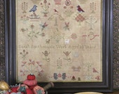 Sarah Boothman 1845 (a Faithfully Reproduced Antique Sampler) Cross Stitch Pattern