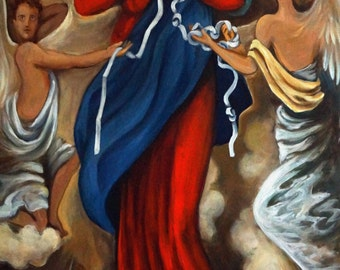 Our Lady Undoer of Knots, giclee