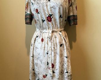 Vintage 70s Lightweight Boho Spring Dress sz. Sm/Med