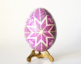 Pysanka batik art chicken egg Ukrainian Easter hand painted eggs, pink dyed creative egg, Polish pisanki,unique handcrafted adornment