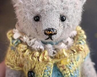 Lani , Miniature  Grey Mohair Artist Teddy Bear from Aerlinn Bears