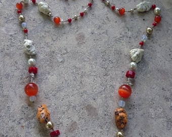Summer Play. Multicolored , festive, joyful yet elegant necklace
