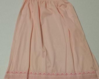 LAST CHANCE - 1960s Vintage Pink half slip