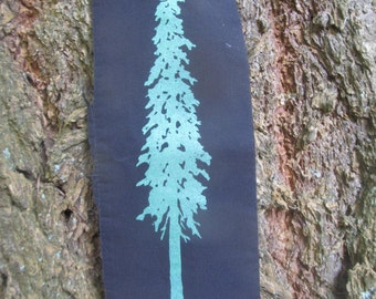 Tree Patch, Douglas fir tree, Green on Black or White - trees forest punk patch ecology nature earth first free cascadia doug pine cedar eco