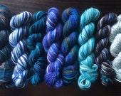 127g of Blue Mini Skeins