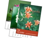 2016 Garden Calendar - 5x7 Desk Calendar - Flower Photography, From The Garden, Botanical Art Prints,  Nature Lover Gift, New Year 5x5