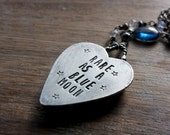 K2 Jasper Necklace, Heart Necklace, Sterling Silver, Statement Necklace... L'Amour...