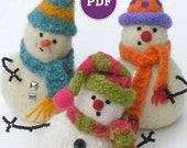 PDF-PATTERN. A Knit & Felt Wool Snowbaby Downloadable PDF Pattern