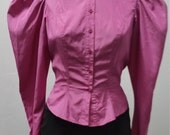 1980s Long Sleeve Blouse by Organically Grown, Western, Period Blouse, Prairie Blouse, Steam Punk, Size S/M, #58511