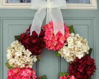 Valentine Wreath - Door Wreath - Hydrangea
