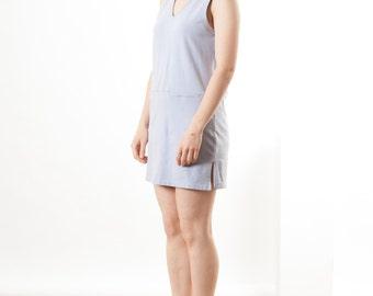 Sleeveless Lilac Dress / Vintage Easter Dress / Spring Pastel Dress