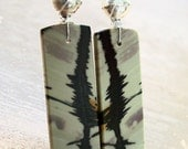 Wild Horse Jasper Navajo Silver Earrings