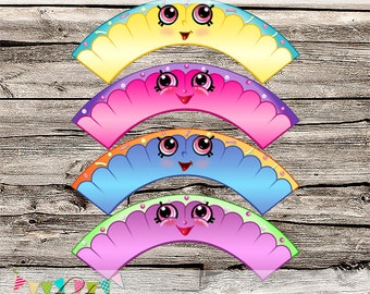 Shopkins Inspired Cupcake Wrappers - Printable - DIY - Digital File - INSTANT DOWNLOAD