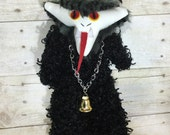 Krampus-monster-Krampus plush-cute Krampus-cuddly Krampus- Krampus Doll- Christmas devil- Gifts for goths- gifts for adults - dark christmas